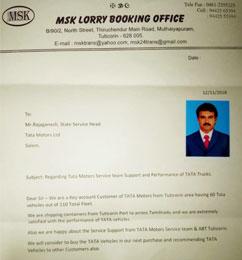 Tata Motors CVBU Customer Care - Customer Speak